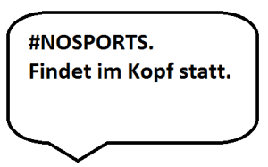 Hipper Werbeslogan.